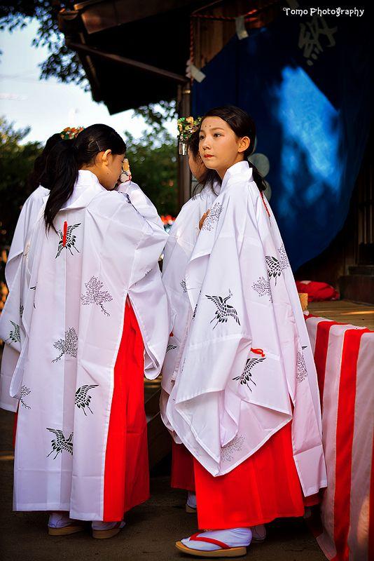 Miko -- Shrine maidens 巫女さんは基本的に処女の女性がなるのですよ!本当に綺麗ですね。