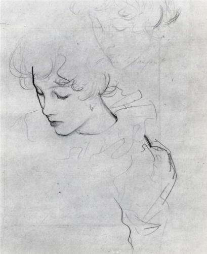 John Singer Sargent - Polly Barnard (also known as study for Carnation, Lily, Lily, Rose)