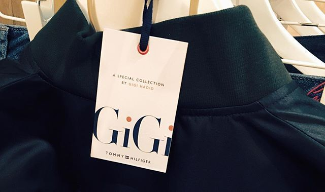 Pin for Later: Gigi Hadid's About to Open Tommy Hilfiger's Runway Show in Her Own Damn Collection  Gigi even shared this sneak peek on Instagram of her sales tag, which looks just as luxe as the pieces she designed.