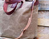 Cool waxed canvas tote