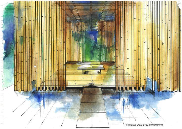 Bamboo Wall Bedroom Great Bamboo Wall Interior Mood Board Design Drawing Pinterest