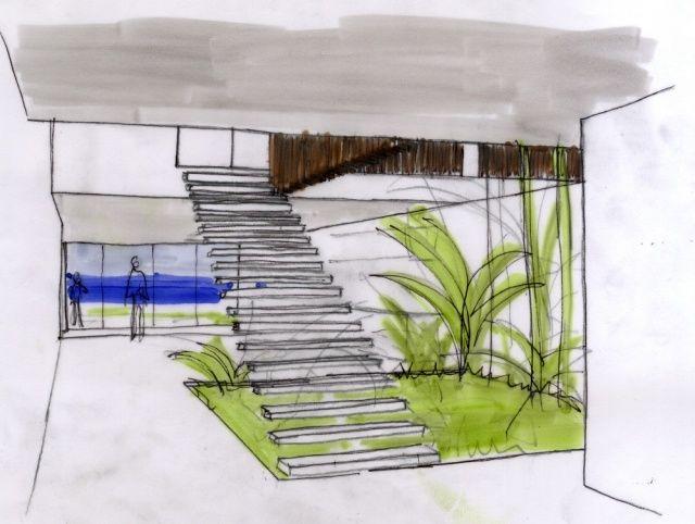 plan skizze treppen innengarten                                                                                                                                                                                 Mehr
