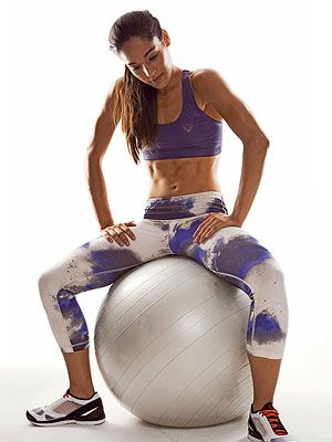 Exercises for the Stability Ball  Do more than crunches on your stability ball. These flab-fighting exercises will work muscles from head to toe. | ALSO .. cute outfit. |