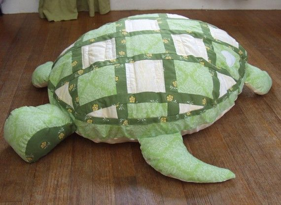 Sea Turtle Floor Pillow...one would be cool with better fabrics!!!!!