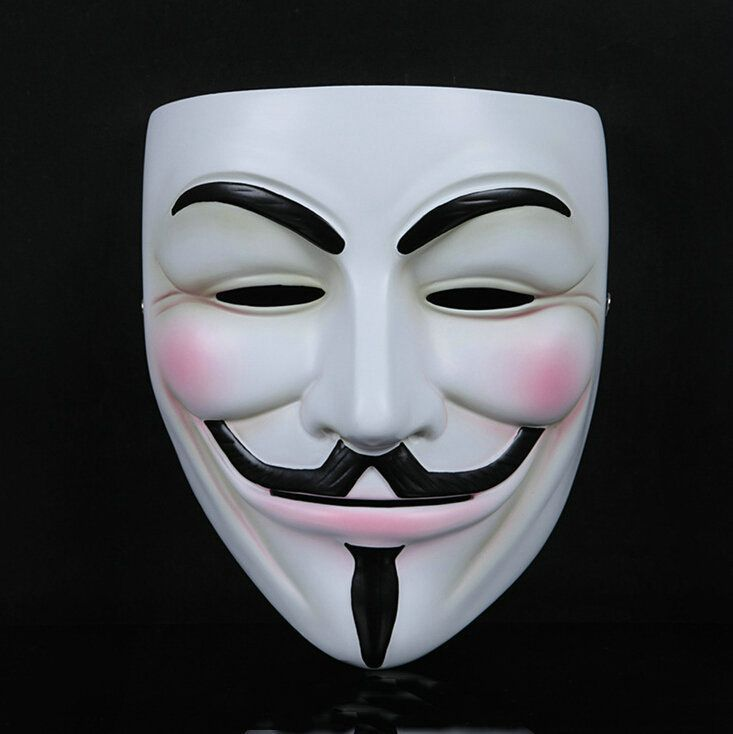 2 x Hacker Anonymous V per Vendetta Guy Fawkes Costume Halloween Maschera