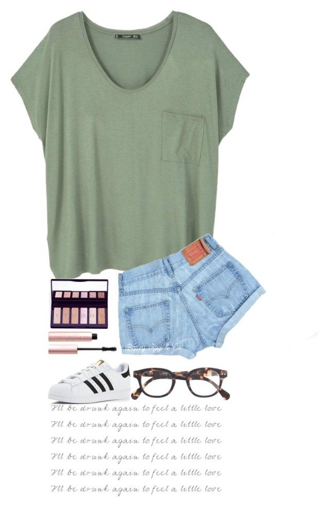 """""""I'll be drunk again"""" by npayne02 ❤ liked on Polyvore featuring MANGO, By Terry, Too Faced Cosmetics, adidas and J.Crew"""