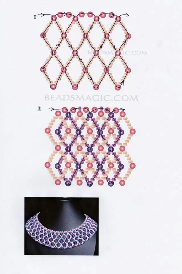 228 best Beadwork patterns and stitches images on Pinterest   Bead ...