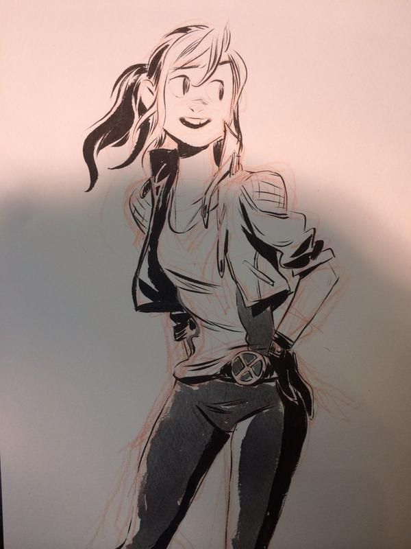 Rogue by mingjue helen chen . Character Sketch /Drawing