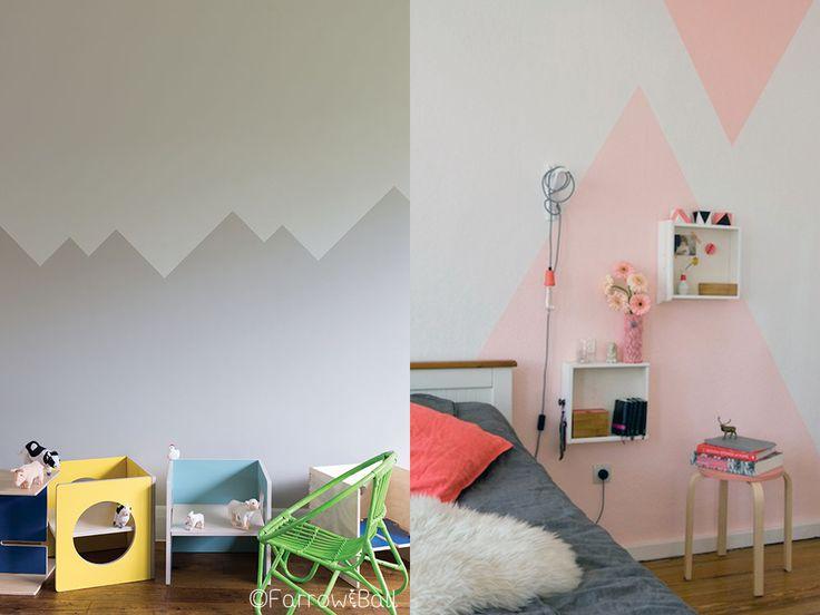 die besten 25 farbige w nde ideen auf pinterest. Black Bedroom Furniture Sets. Home Design Ideas