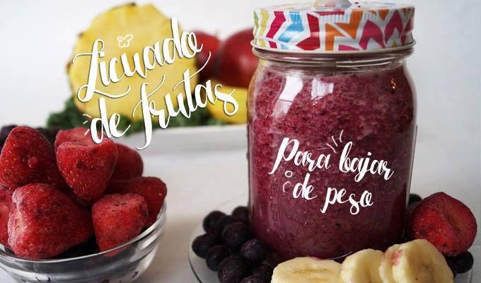 Delicioso licuado de berries (frutos del bosque) licuado para bajar de peso y quemar grasa de manera sana y natural, ideal para desayunar!