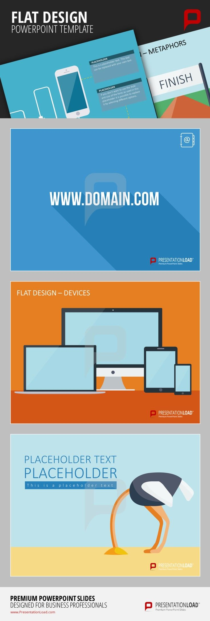 the brandnew flat design powerpoint templates correspond to the, Presentation templates