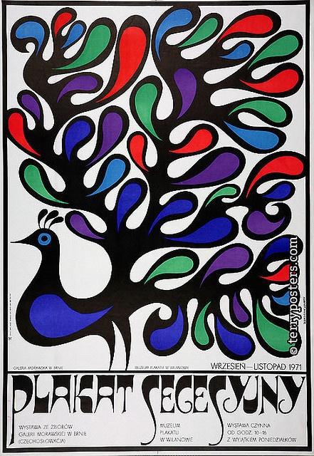 Hubert Hilscher, Plakat Secesyjny, 1971