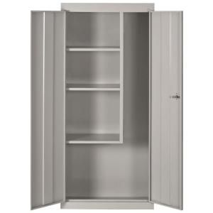 $209.00 30 in. L x 15 in. D x 66 in. H Freestanding Steel Cabinet in Dove Gray-VFC1301566-05 at The Home Depot