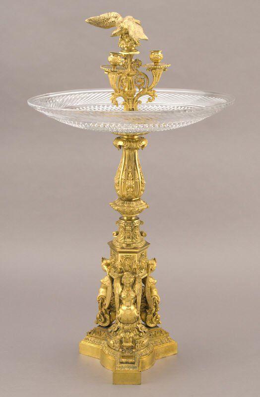 Monumental french thomire gilt bronze centerpiece
