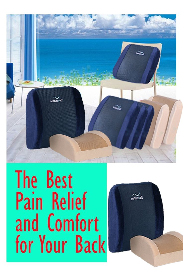 The best pain relief and comfort for your back premium memory foam lumbar pillow and