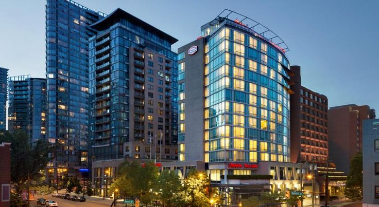 Hampton Inn & Suites, by Hilton - Vancouver Downtown Vancouver Featuring a hot tub and sauna, this Vancouver hotel is located on Robson Street across from the BC Place Stadium. An on-site restaurant is available. Free WiFi is provided throughout the property.