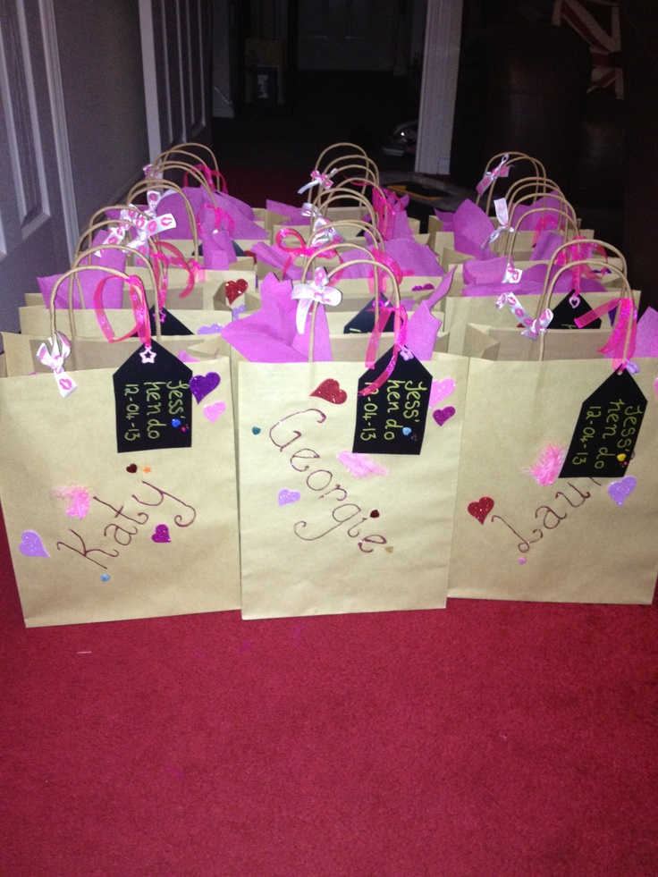Handmade and personalised hen party bags!