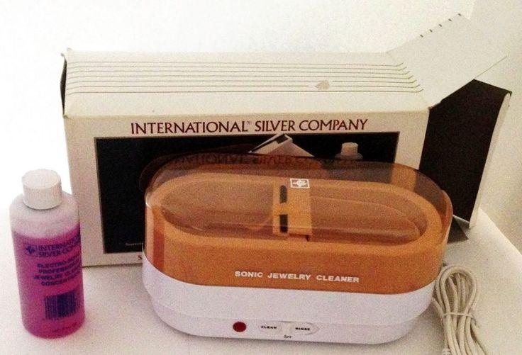 International Silver Co. Electro Sonic Jewelry Cleaner VTG 99110002 #InternationalSilverCo