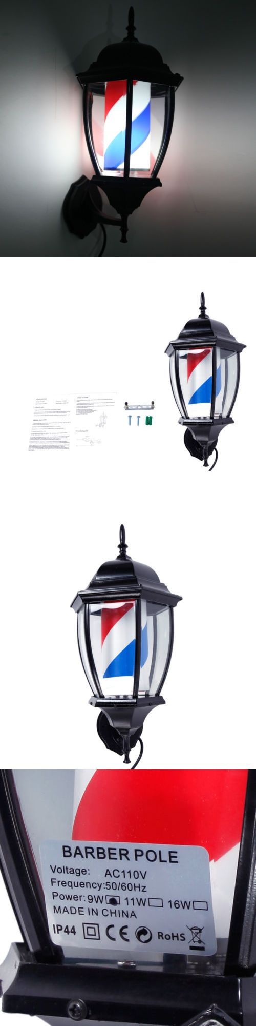 Other Salon and Spa Equipment: 20 Barber Shop Pole Rotating Led Light Sign Hair Salon Us Plug Red Blue White -> BUY IT NOW ONLY: $46.59 on eBay!