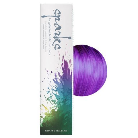 Sparks long lasting bright purple hair color