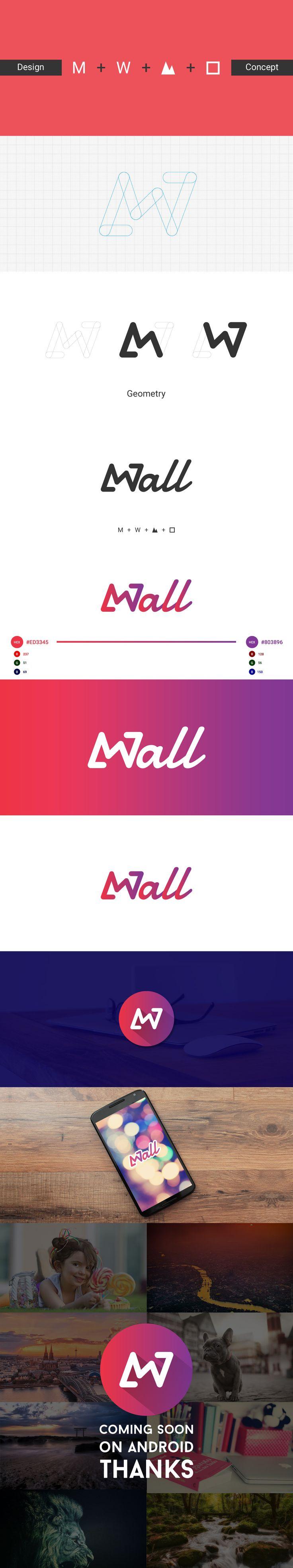 MWall Mobile App Logo Design View More on Behance https://www.behance.net/gallery/29010603/MWall-Mobile-App-Logo-Design