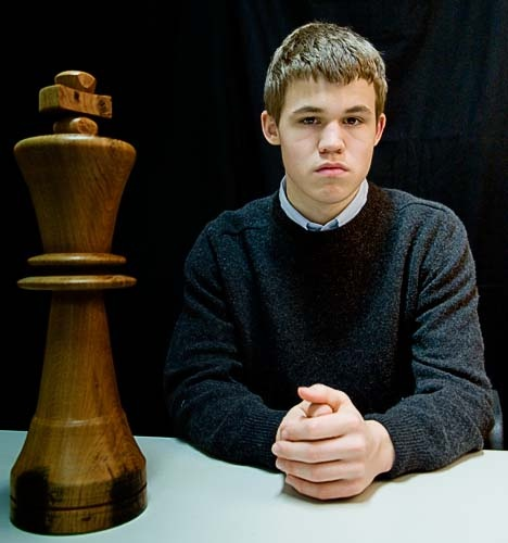 Magnus Carlsen, 22 yo, is a Norwegian chess Grandmaster and chess prodigy who is currently the number-one ranked player in the world.