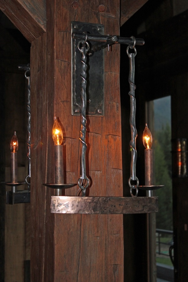 old world style lighting. two light hanging sconce. old world stylehall style lighting