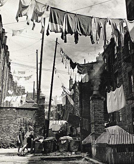 Washing Strung Between Tenements, Dundee. Wolfgang Suschitzy