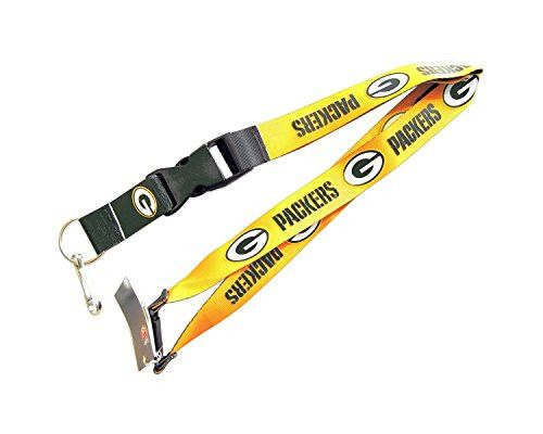 Green Bay Packers Clip Lanyard Keychain Id Ticket Holder - YELLOW