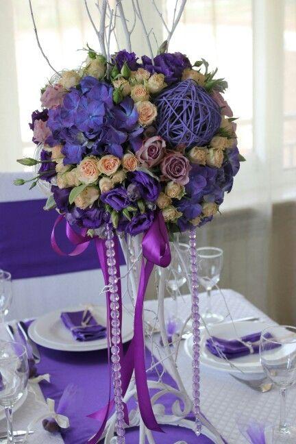 Фиолетовая свадьба.