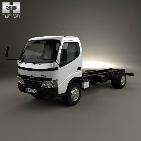 Hino 195 Hybrid Box Truck 2012 3d Model From Humster3d Com: Hino 300-616 Chassis Truck 2007 3d Model From Humster3d