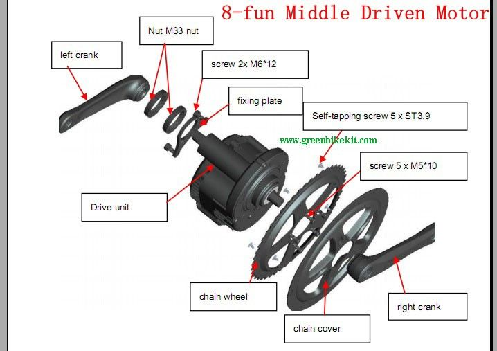 36v 250w bafang motor 2013 new model bbs01 centeral driven for Add electric motor to drive shaft