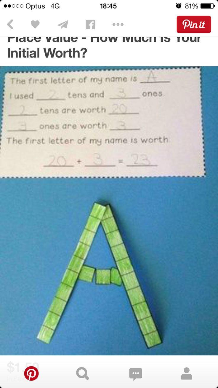 Letter maths