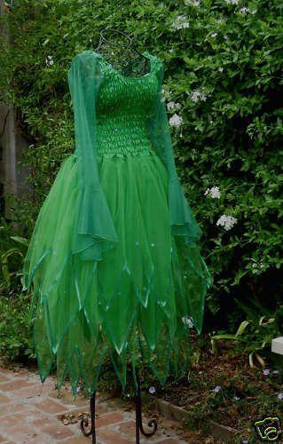 New Adult Forest Green Dress ~ Ariel Fancy Dress  Halloween Costume ~ Renaissance ~Theatre ~ Medieval