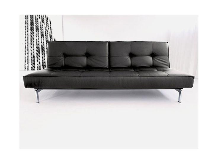 Sofa Splitback czarna 582 nogi chromowane — Sofy INNOVATION iStyle — sfmeble.pl