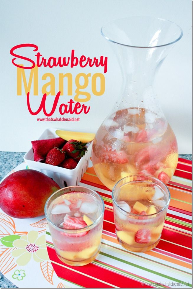 Strawberry Mango Naturally Flavored Water!  So delicious!