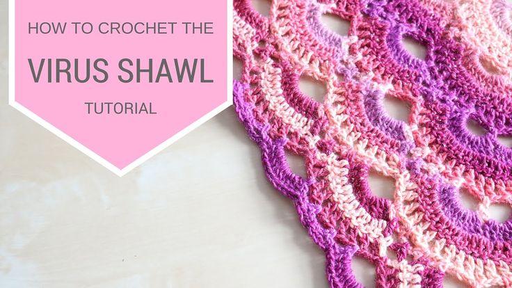 CROCHET: How to crochet the Virus shawl | Bella Coco Thanks so xox ☆ ★ https://uk.pinterest.com/peacefuldoves/