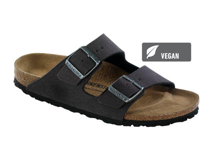 Love Birkenstock Arizona Microfibre in Anthracite (Vegan Footbed)