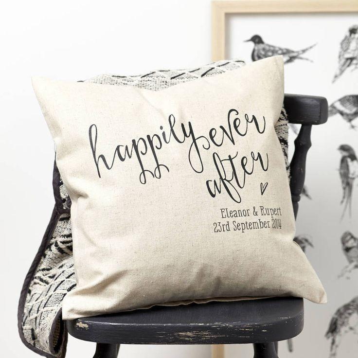 Personalised Engagement Gift Cushion
