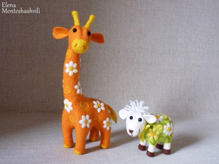 Жираф,барашек.Фелтинг.