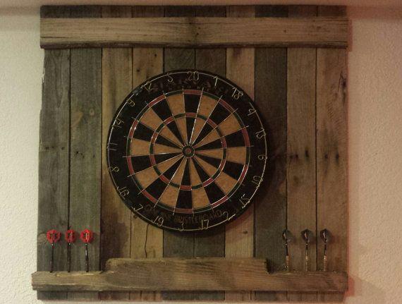 Reclaimed dart board backboard by RadicallyReclaimed on Etsy