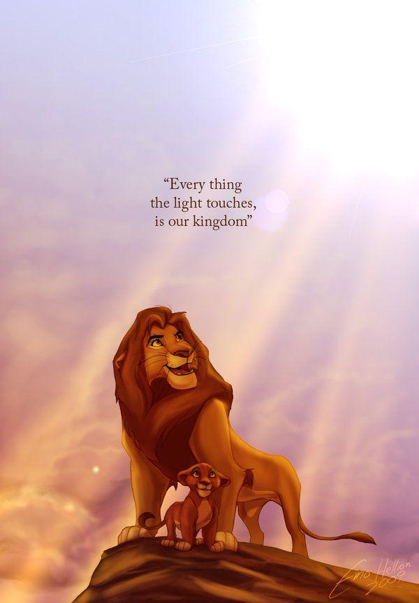 Simba and Mufasa - The Lion King