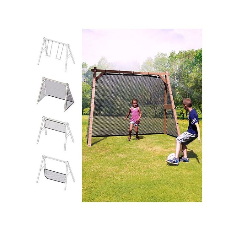 Trend  ndern Sie Ihre Schaukel in ein Fu balltor oder ein Volleyballnetz Mit diesem patentierten Entwurf haben