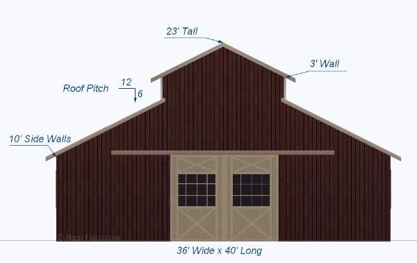 monitor style horse barn design plan ga horse barn