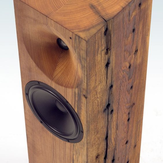 """The Beam From Fern & Roby - 8"""" ScanSpeak full-range woofer and 1"""" tweeter, in Heart Pine, from the USA."""