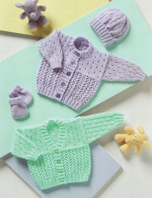 √       Stylecraft--Cardigans, Hat and Mittens (birth - age 3)