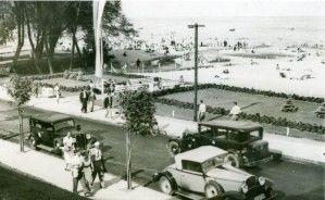 Street Orłowska on the beach in Orłów, 1938.
