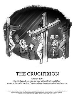 Jesus crucifixion Sunday school
