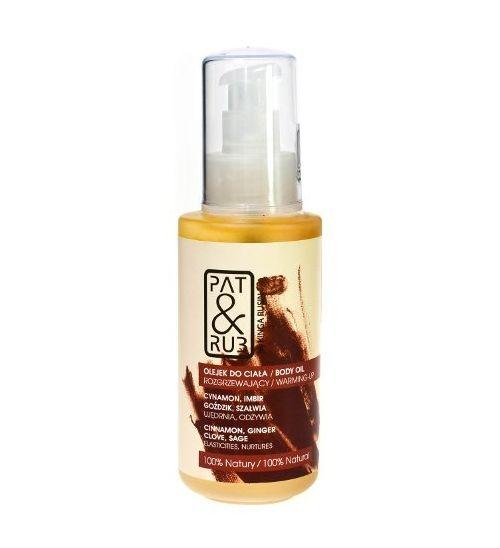 Rozgrzewający olejek do ciała - 100% natury.  Kąpiel z dodatkiem olejku łagodzi zmęczenie i stres, poprawia samopoczucie. Olejki z cynamonu, imbiru, goździka i szałwii pobudzają krążenie, uwalniają od stresu i rozgrzewają zmysły