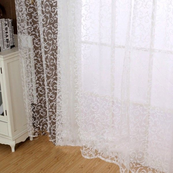 Chic Room Floral Tulle Curtain Window Door Balcony Lifting Sheer Valance Scarf Curtain #>=#>=#>=#>=#> Click on the pin to check out discount price, color, size, shipping, etc. Save and like it!